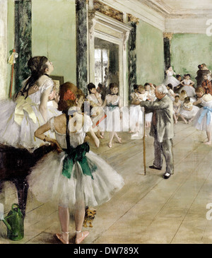 Edgar Degas, The Ballet Class 1871-1874 Oil on canvas. Musee d'Orsay, Paris, France. - Stock Photo