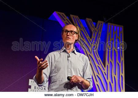 British broadcaster and writer Will Gompertz at the Edinburgh International Book Festival. He is the BBC's arts - Stock Photo