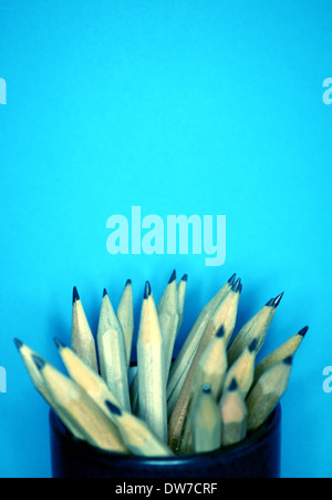 Still life of pencils in a pot - Stock Photo