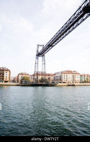 ferry las arenas, gecho river, biscay, bilbao, basque country, spain - Stock Photo
