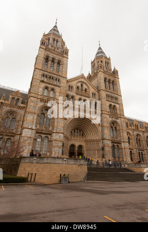 Entrance to the Natural History Museum, Cromwell Road, Kensington, London, England,U.K - Stock Photo