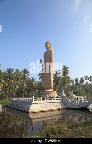 Sri Lanka, Peraliya, Tsunami Memorial, Buddha statue, - Stock Photo