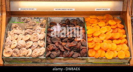 Dried fruits, Egyptian bazaar, Istanbul, Turkey - Stock Photo