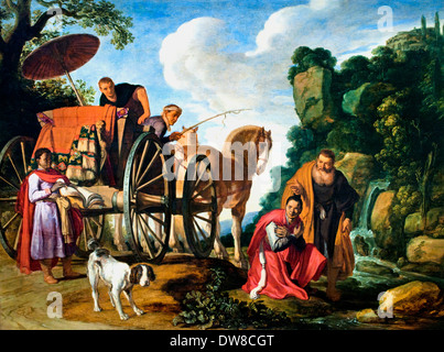 The Baptism of the Eunuch 1623 Pieter Lastman Dutch Netherlands - Stock Photo