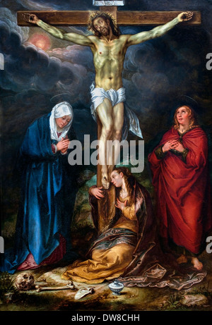 Christ on the Cross 1600 Hendrick Goltzius 1558 - 1617 Dutch Netherlands - Stock Photo