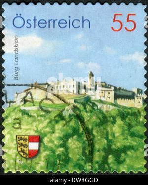 AUSTRIA - CIRCA 2009: Postage stamp printed in Austria, shows Burg Landskron, circa 2009