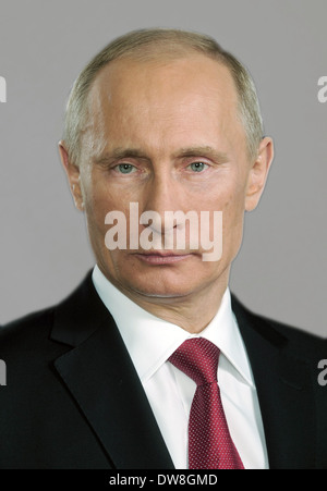 VLADIMIR PUTIN  as President of Russia - Stock Photo
