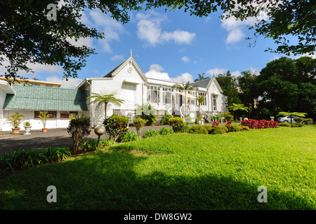 Colonial House near Curepipe Mauritius - Stock Photo