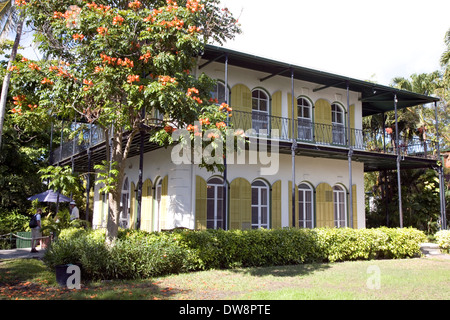 The Ernest Hemingway Home & Museum, Key West, Florida, USA - Stock Photo