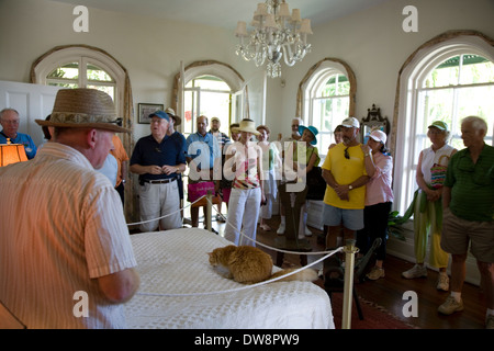 Tour of the Ernest Hemingway Home & Museum, Key West, Florida - Stock Photo