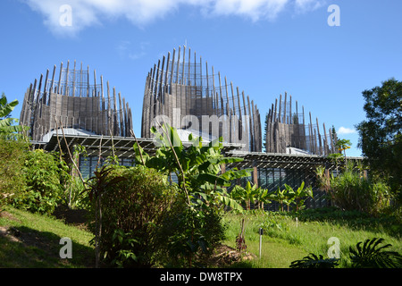 Modern architecture of Jean-Marie Tjibaou Cultural Centre, specialized in Kanak culture, Noumea, New Caledonia, South Pacific Stock Photo