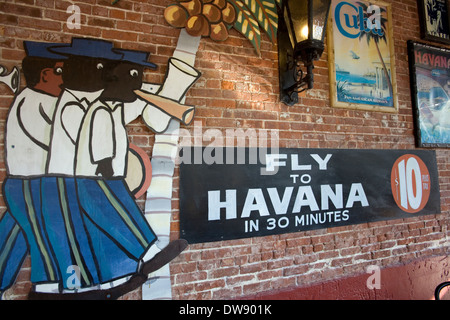 Casa Cayo Hueso is a popular Cuban restaurant in Old Town Key West, Florida, USA - Stock Photo