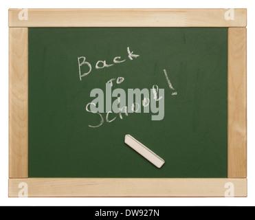 'back to school' written on blackboard - Stock Photo