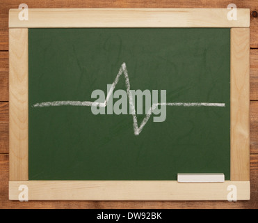 blackboard with line - Stock Photo