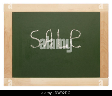 'sale' written on blackboard - Stock Photo