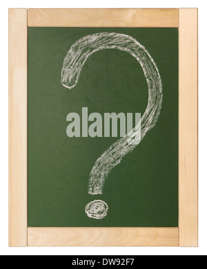 question written on blackboard - Stock Photo