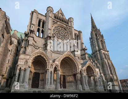 Notre-Dame de Chartres Cathedral, Chartres, Eure-et-Loir, France - Stock Photo