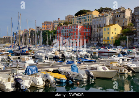 View to bastia old city center lighthouse and harbour bastia is stock photo royalty free - Club house vieux port marseille ...