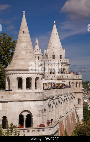 Fisherman's Bastion, Castle district, Budapest, Hungary - Stock Photo