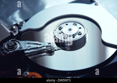 Close up image of SATA computer hard disk device. - Stock Photo