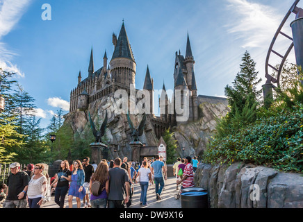 The Wizarding World of Harry Potter at Universal Studios Islands of Adventure - Stock Photo