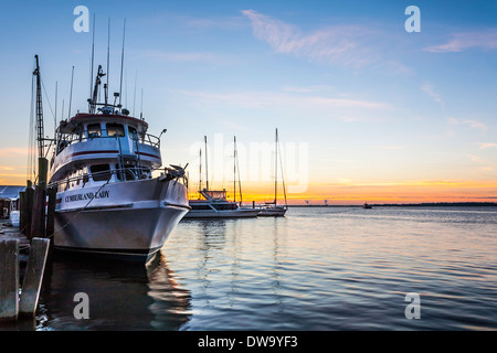 Cumberland Lady carries passengers from St. Marys, Georgia to the Cumberland Island National Seashore - Stock Photo