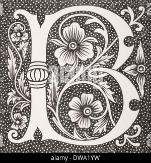 Decorative capital letter B - Stock Photo