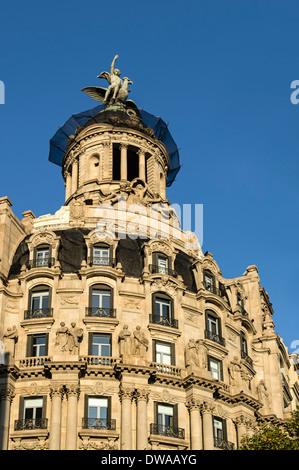 Art Deco building, Passeig de Gracia, Barcelona, Spain - Stock Photo