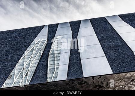 The Forum Museum Blau by Architects Pierre De Meuron Jacques Herzog Barcelona Spain - Stock Photo