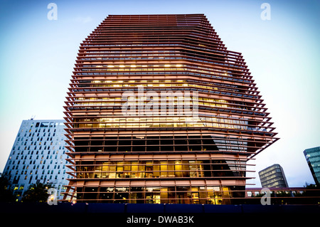Head Offices Of CMT, Modern Architecture, Barcelona, Spain - Stock Photo