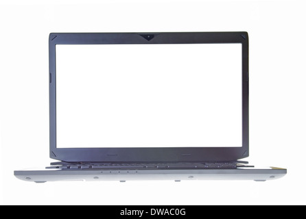 Empty laptop screen isolated on white - Stock Photo