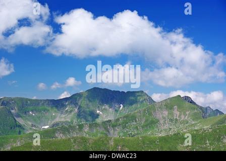 Crest of Fagaras mountain, summer landscape - Stock Photo