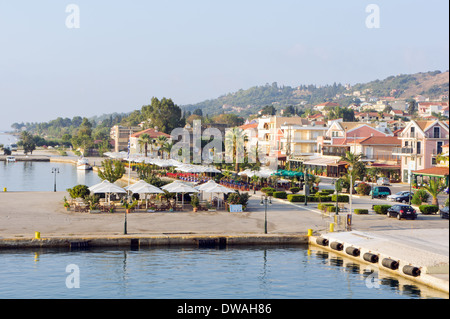 Promenade at Argostoli, capital of Kefalonia, Greece - Stock Photo