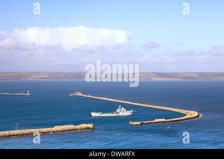 Portland, Harbour, Dorset, Weymouth, England, United Kingdom - Stock Photo