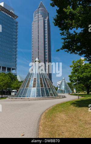 Germany, Hesse, Frankfurt, Messeturm - Stock Photo