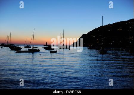 Andraitx Mallorca sun set - Stock Photo