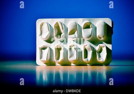 Empty pill package. - Stock Photo