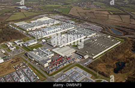aerial view of the Toyota car factory at Burnaston near Derby, Toyota Motor Manufacturing UK Limited - Stock Photo