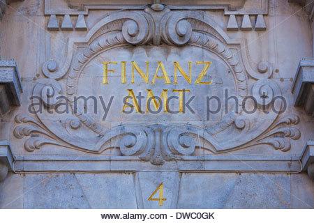 Germany, Bavaria, Lindau, tax office - Stock Photo