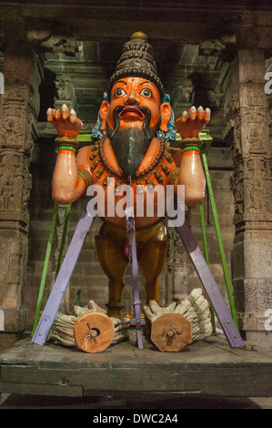 India Tamil Nadu Kanchipuram Sri Ekambaranathar Ekambareswarar Temple Temples Shiva Hindu 6 6th century parade float - Stock Photo