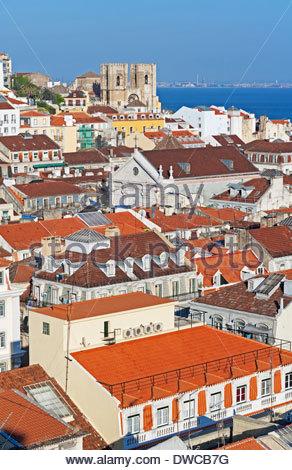 Lisbon city centre, Portugal - Stock Photo