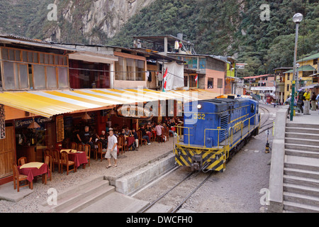train station, Aguas Calientes, Peru, South America - Stock Photo
