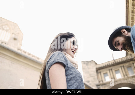 Young couple on vacation, Valencia, Spain - Stock Photo