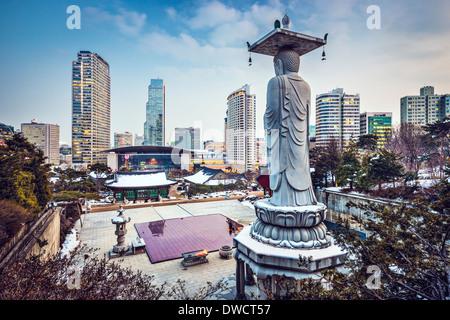 Seoul, South Korea cityscape in Gangnam District. - Stock Photo