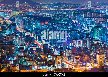 Seoul, South Korea cityscape - Stock Photo