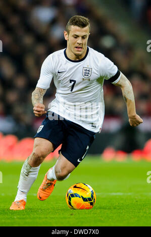 London, UK. 05th Mar, 2014. Jack Wilshere of England (Arsenal) in action during the International friendly fixture - Stock Photo