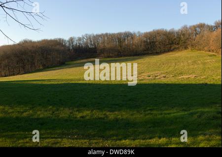 Hillside above St Martial, Varen, Tarn et Garonne, Occitanie, France - Stock Photo