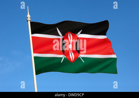 Flag of Kenya - Stock Photo