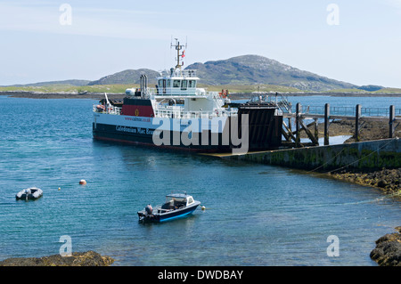 On board the Caledonian Macbrayne ferry the 'Loch Alainn' at Ardmore harbour, Isle of Barra, Western Isles, Scotland, - Stock Photo