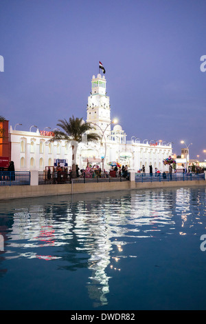 Yemen Pavilion at Global Village tourist cultural attraction in Dubai United Arab Emirates - Stock Photo